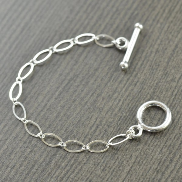 Sterling Silver Toggle Clasp 4 Necklace Extension