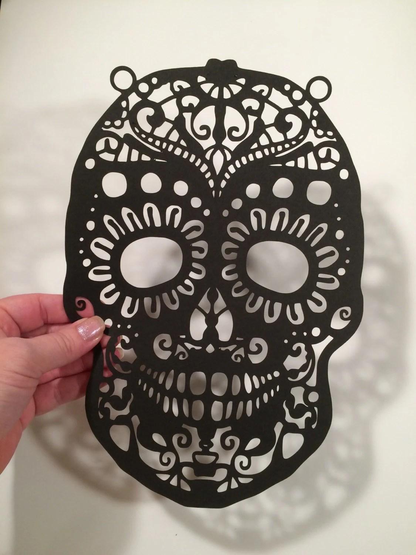 Dia De Los Muertos Day Of The Dead Sugar Skull Cut Paper