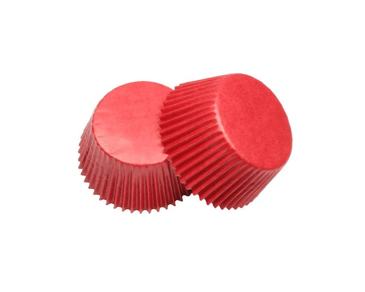 Red Glassine Baking Cupcake Liners Cups 36 Standard Size