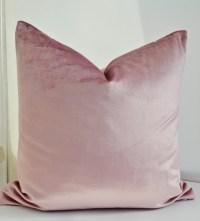 ON SALE Pink Velvet Pillow Cover Pink Pillow Cover Dusky