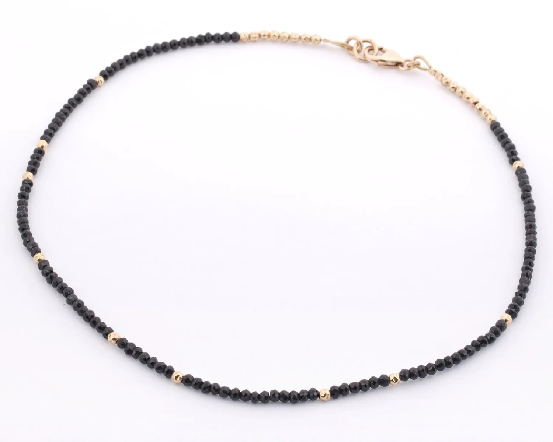 Black spinel necklaceblack spinel beads necklace made with