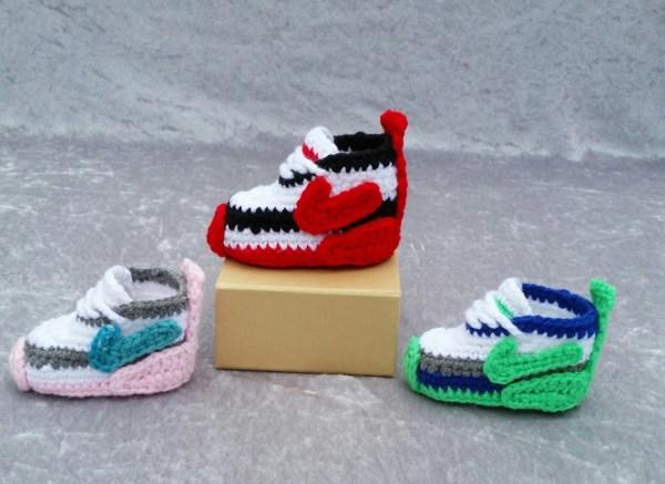 Nike Baby Shoes Crochet Pattern