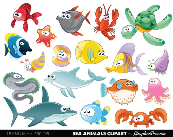 sea animal clipart under