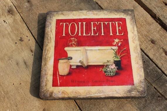 Targa in legno toilette bagno wc sala da bagno scritta