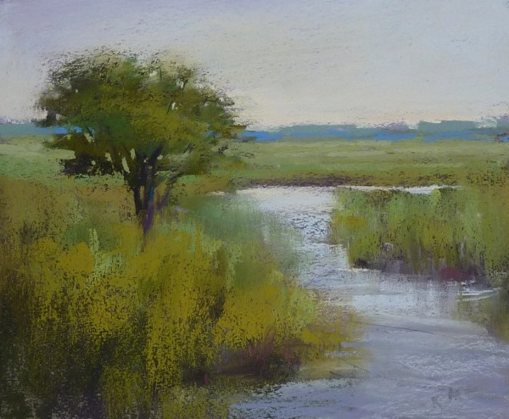 romantic nantucket landscape marsh