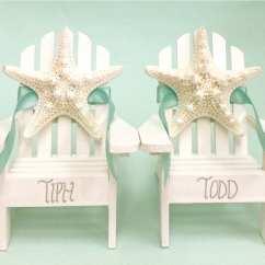 Adirondack Chair Cake Topper Ergonomic Stool Beach Wedding 2 Mini Chairs With
