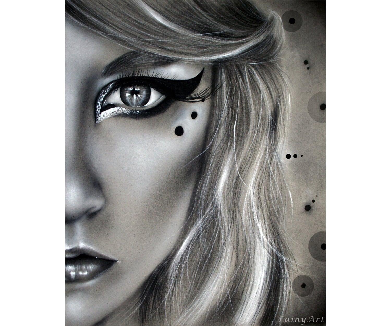 Original Charcoal Drawing Framed 8x10 Half Portrait