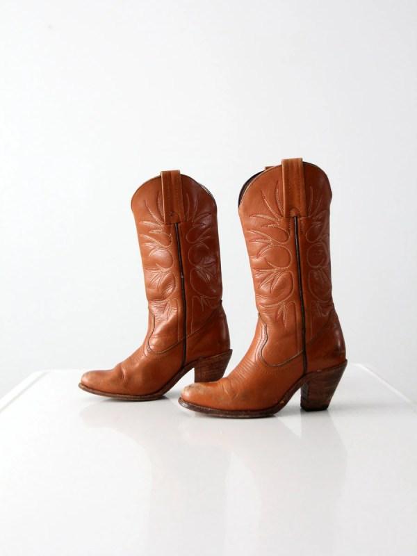 Vintage Frye Cowboy Boots High Heel Western