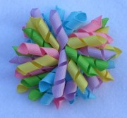 korker hair bow pastel