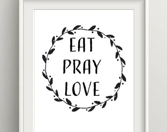 Download Eat pray love quote | Etsy