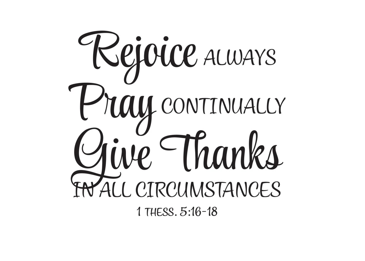 1 Thessalonians 5:16-18 Give thanks in all Circumstances
