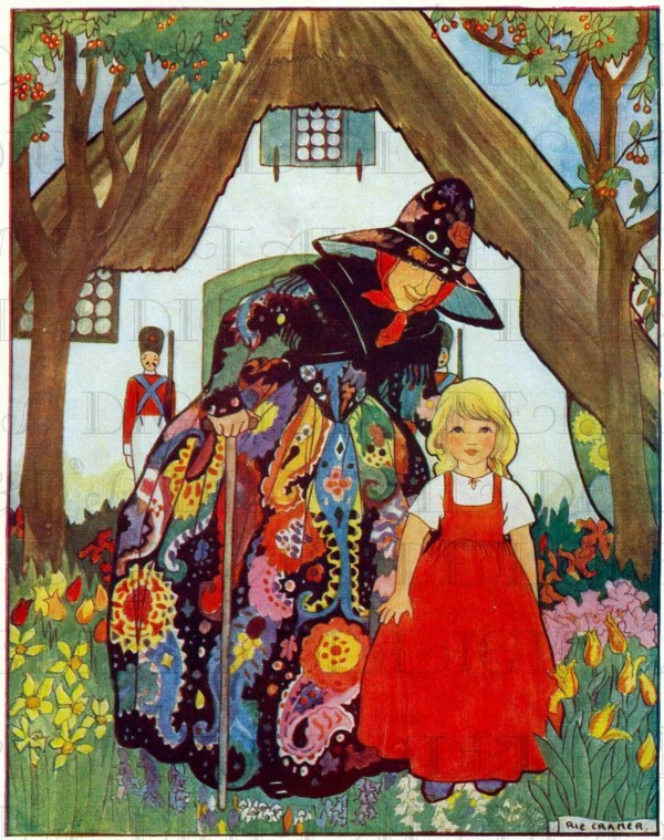 Sublime Godmother And Cottage Vintage Fairy Tale