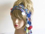 crochet headband ethnic hair band