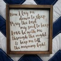 Now I lay me down to sleep Rustic Nursery Wall Art by ...