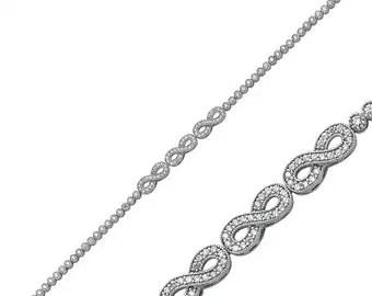 Items similar to Anchor bracelet &Infinity bracelet
