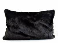 Black Fur Pillow CoverBlack Faux Fur Pillow Cover by