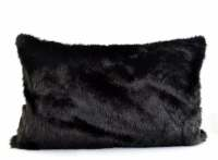 Black Fur Pillow CoverBlack Faux Fur Pillow Cover by ...