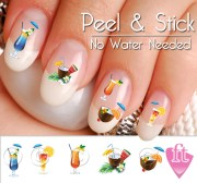 summer drink nail art decal sticker