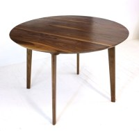 Mid Century Modern Round Dining Table Cafe Table Solid