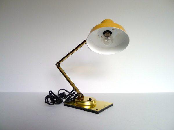 Vintage Tensor Gold And Tan Desk Lamp Atomickiki