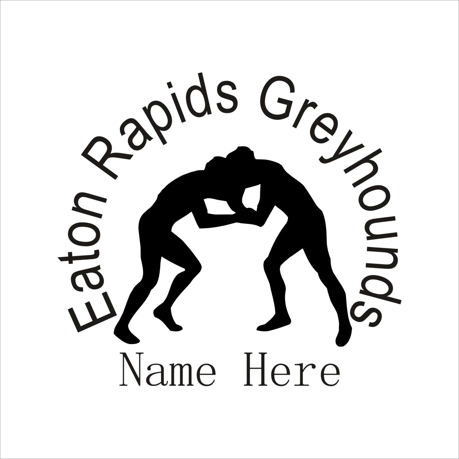 Personalized Wrestling Car Decal Vinyl Lettering High School
