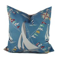 Blue outdoor pillows 18x18 Outdoor pillow cover Nautical