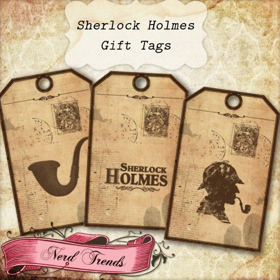 Sherlock Holmes Gift Tags Printable Birthday Party Tags