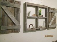 Rustic little window frame with shutters