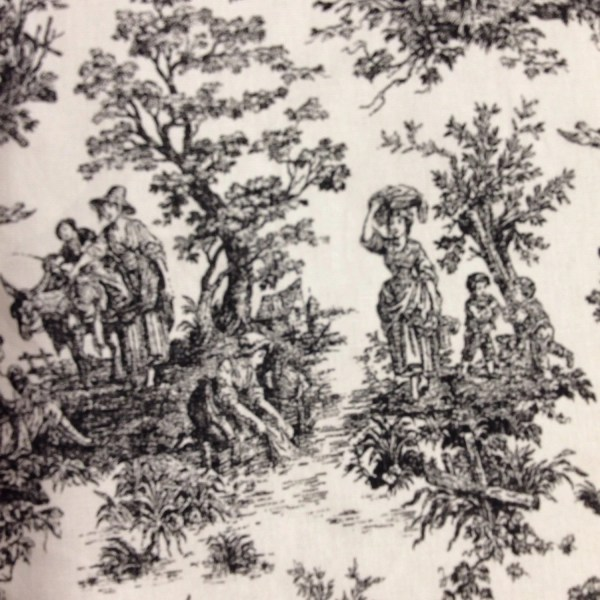 Black And White Toile Fabric Yard Fast