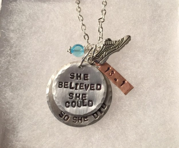 Personalized Hand Stamped Inspirational Necklace