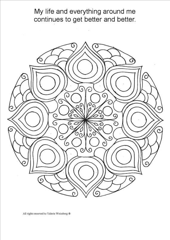 Mandala Coloring Book Art Therapy Healing Art Relaxing