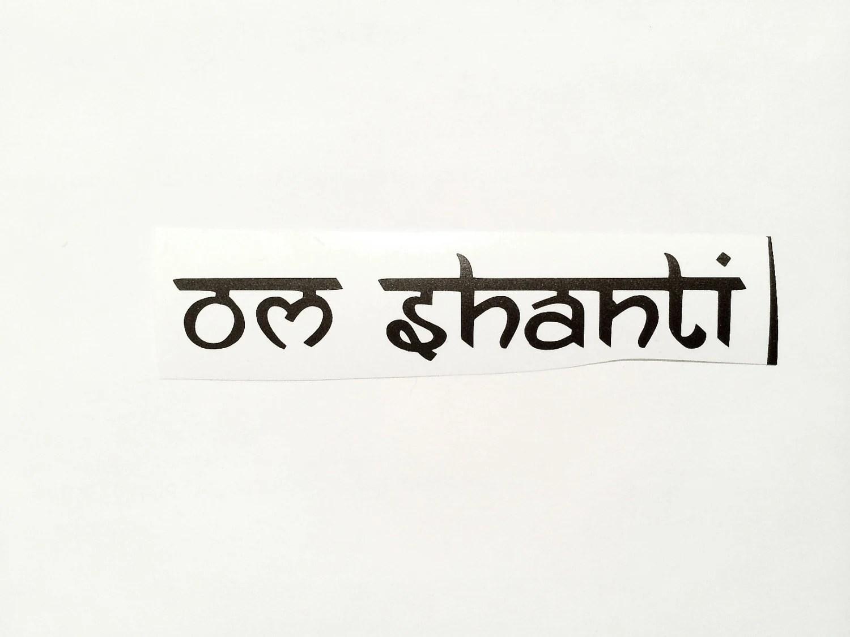 Om Shanti Sticker Macbook Pro Decal Car Vinyl Sticker
