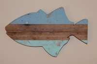 Wooden Fish Wall Art Nautical Wall Art Striped Pallet Fish
