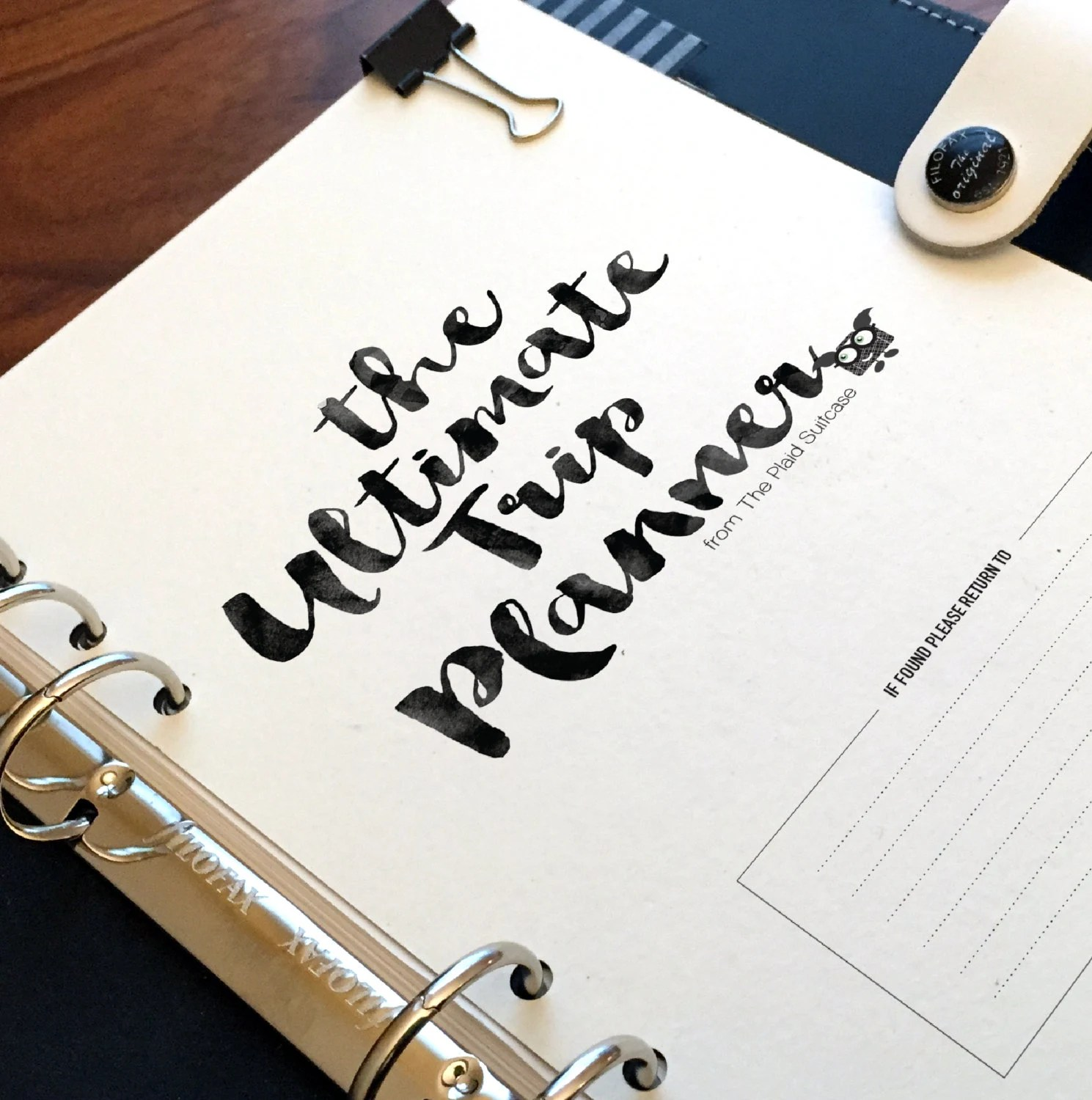 The Ultimate Trip Planner Printable A5 Half Letter