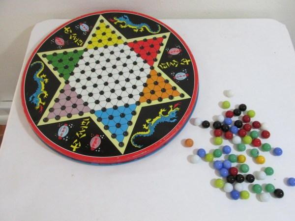 Chinese Checkers Reverse Side Ohio Art Tin Marbles
