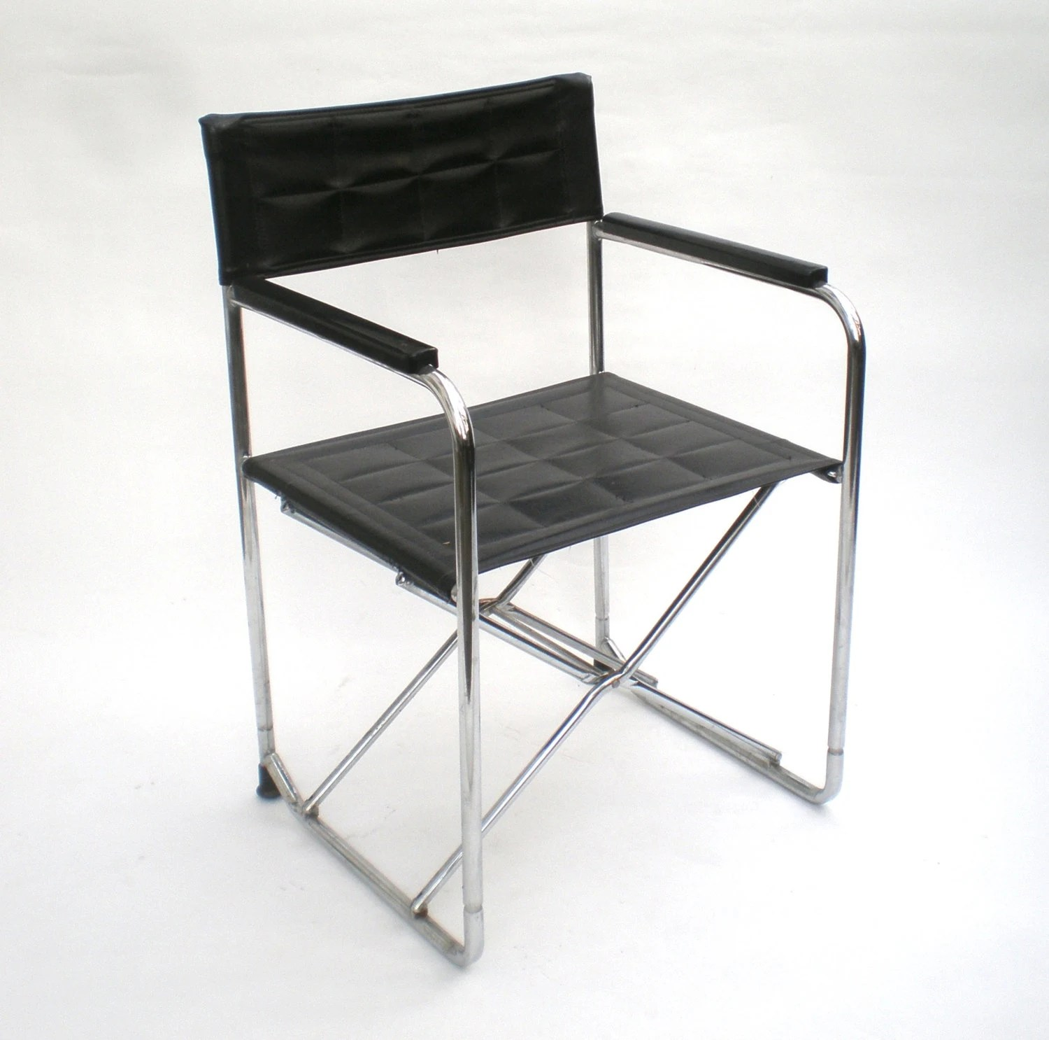 folding chair leather covers pier one vintage director camp
