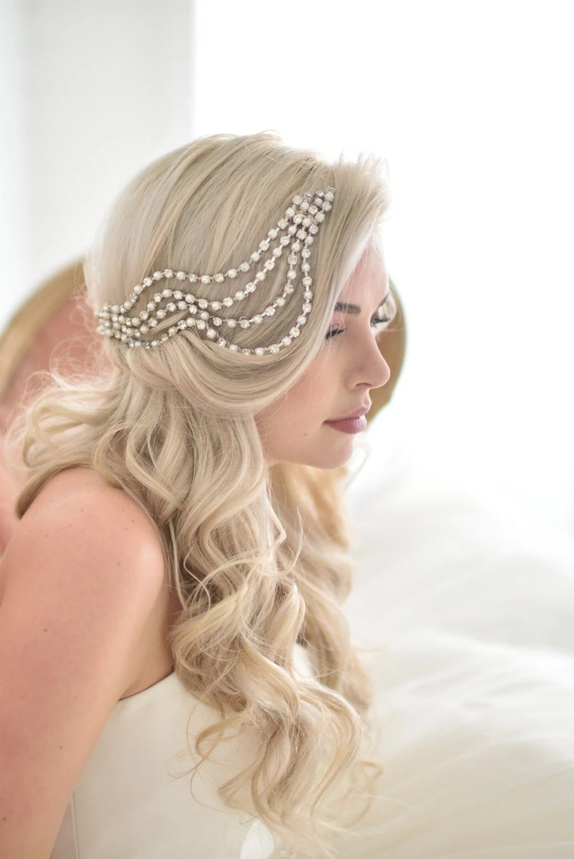 Unique Wedding Veil Alternative Modern Bridal Headpiece