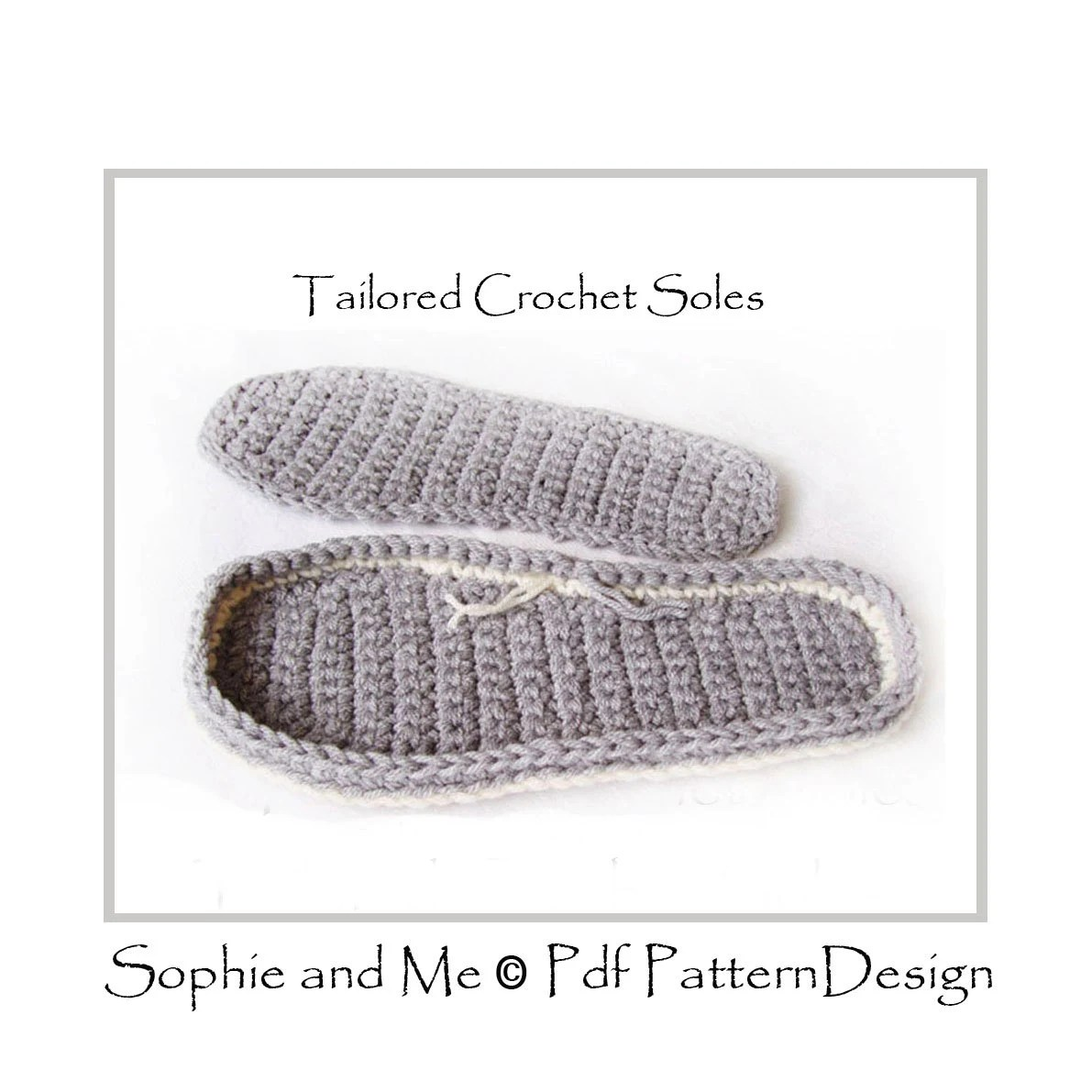 Any Size Tailored CROCHET SOLES / Sole by PdfPatternDesign