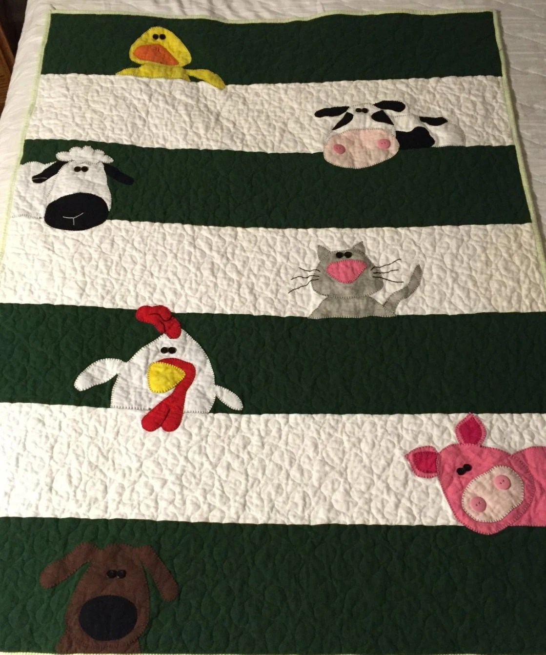 Farm Animal Baby Quilt Custom Order