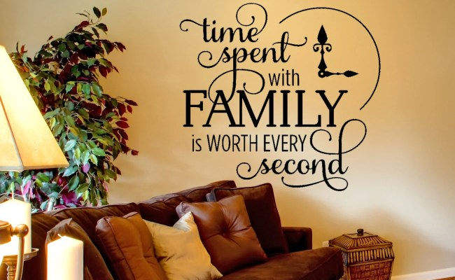 Family Wall Decal Time Spent Quote Wall Decal Inspirational