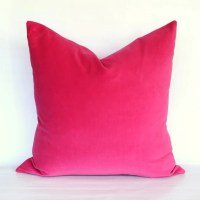 Fuschia Velvet Pillow Cover Choose Your Size
