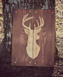 Deer Buck Hunting Pallet Wood Art Reclaimed
