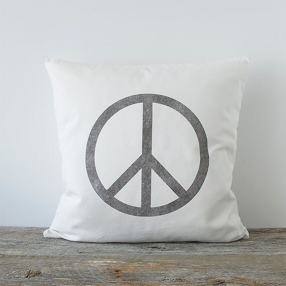 Peace Sign Decorative Throw Pillow Cover Peace Sign by