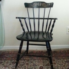 Nichols And Stone Dining Chairs Office Chair Going Down Hitchcock Windsor Signed Arm