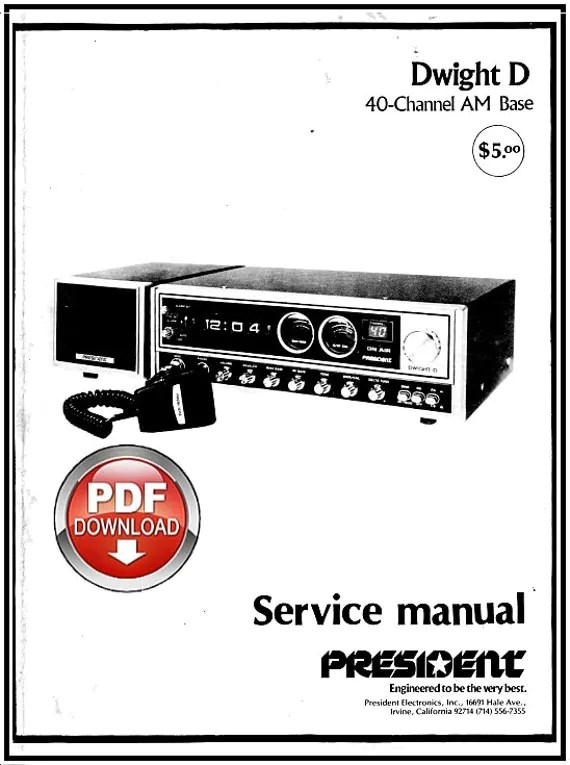 Download President Dwight D CB Service Manual CB Radio Book