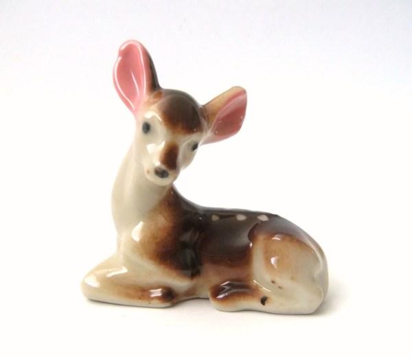 Vintage Deer Figurine Japan Fawn Figure Vintagebyjade