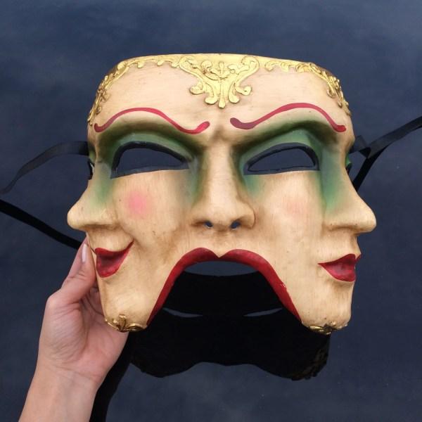 Mens Masquerade Mask Three Face Mardi Gras 4everstore