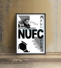 Newcastle United FC Print Wall art print Newcastle Football
