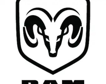Items similar to Dodge Ram Logo 1500 2500 3500 Vinyl Decal