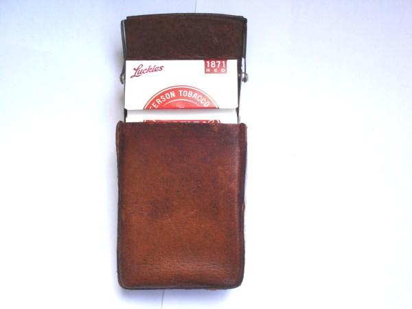 Brown Leather Vintage Cigarette Case Woman Man Lilldim